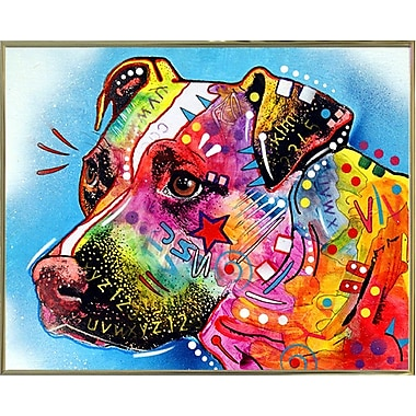 East Urban Home 'Pit Bull 1059' Graphic Art Print; Gold Metal Framed