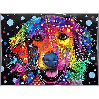 East Urban Home 'Golden Retriever' Graphic Art Print; White Metal Framed