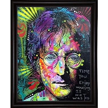 East Urban Home 'Lennon Front' Graphic Art Print; Bistro Espresso Framed