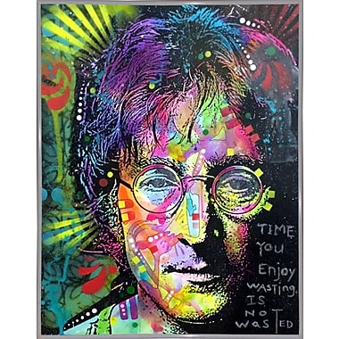 East Urban Home 'Lennon Front' Graphic Art Print; White Metal Framed
