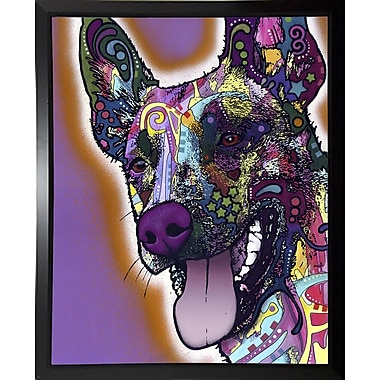 East Urban Home 'Malinois' Graphic Art Print; Budget Saver Framed