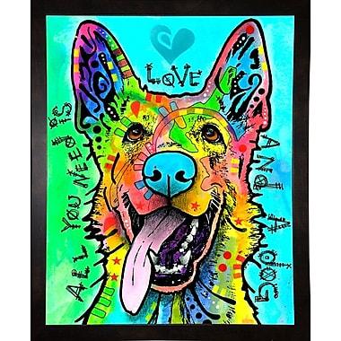 East Urban Home 'Love and a Dog' Graphic Art Print; Black Medium Framed