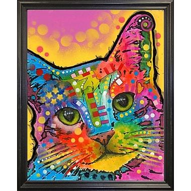 East Urban Home 'Tilt Cat' Graphic Art Print; Black Grande Framed