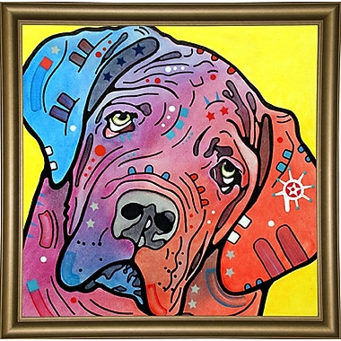 East Urban Home 'The Bully' Graphic Art Print; Bistro Gold Framed