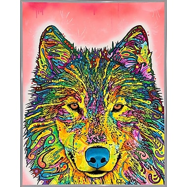 East Urban Home 'Wolf' Graphic Art Print; White Metal Framed