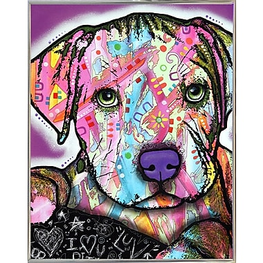 East Urban Home 'Baby Pit' Graphic Art Print; Silver Metal Framed