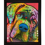 East Urban Home 'Mastiff' Frame Graphic Art Print; Bistro Espresso Framed