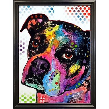 East Urban Home 'Young Boxer' Graphic Art Print; Black Grande Framed