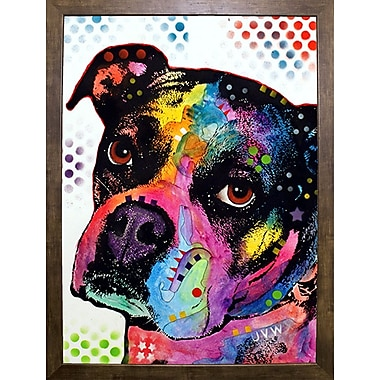East Urban Home 'Young Boxer' Graphic Art Print; Cafe Mocha Framed