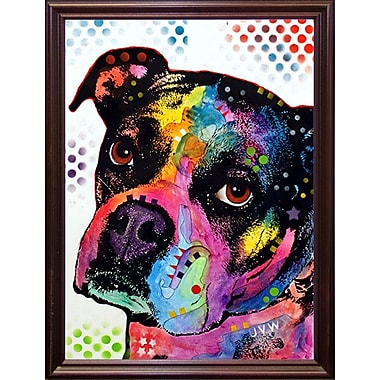 East Urban Home 'Young Boxer' Graphic Art Print; Cherry Grande Framed