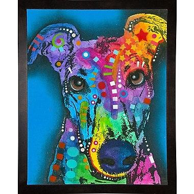 East Urban Home 'What ya thinking bout?' Graphic Art Print; Cafe Espresso Framed