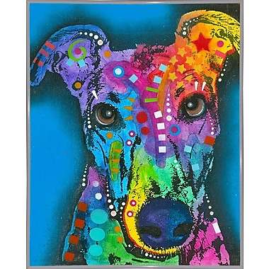 East Urban Home 'What ya thinking bout?' Graphic Art Print; White Metal Framed