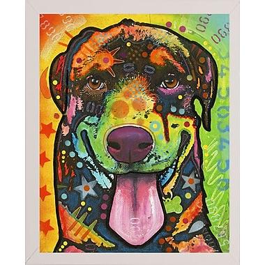 East Urban Home 'Rottie Pup' Graphic Art Print; White Medium Framed