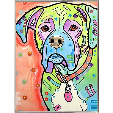 East Urban Home 'The Boxer' Graphic Art Print; Silver Metal Framed