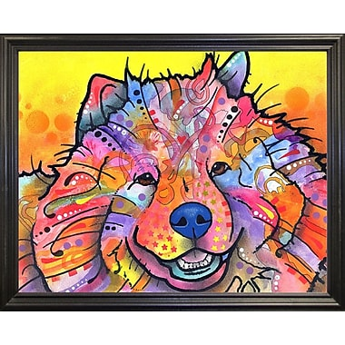 East Urban Home 'Benzi' Graphic Art Print; Black Grande Framed