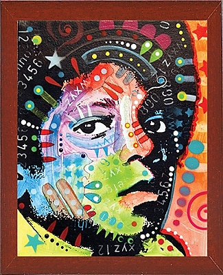 East Urban Home 'Michael Jackson' Graphic Art Print; Red Mahogany Medium Framed