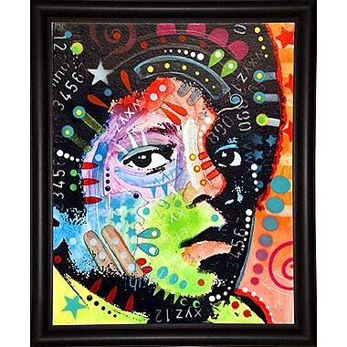 East Urban Home 'Michael Jackson' Graphic Art Print; Bistro Espresso Framed