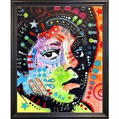 East Urban Home 'Michael Jackson' Graphic Art Print; Black Grande Framed