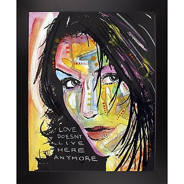 East Urban Home 'Love Doesn't Live Here' Graphic Art Print; Black Large Framed