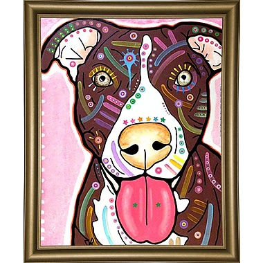 East Urban Home 'Bliss' Graphic Art Print; Bistro Gold Framed