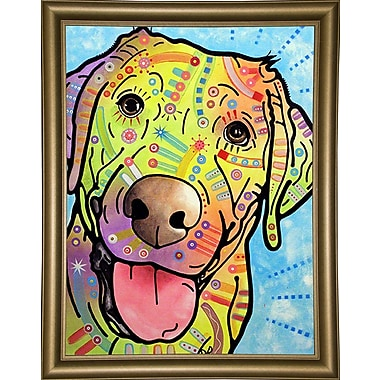 East Urban Home 'Sunny' Graphic Art Print; Bistro Gold Framed