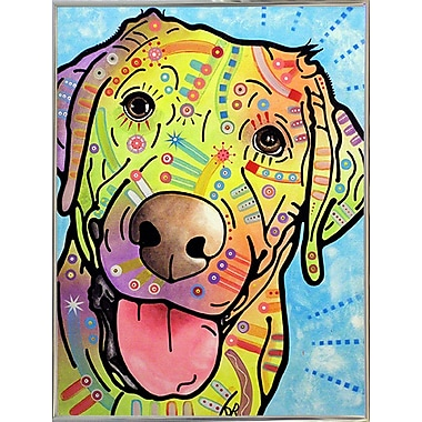 East Urban Home 'Sunny' Graphic Art Print; Silver Metal Framed