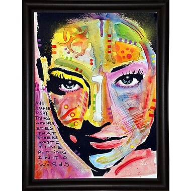 East Urban Home 'She Learned to Say' Graphic Art Print; Bistro Espresso Framed