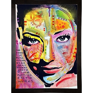 East Urban Home 'She Learned to Say' Graphic Art Print; Cafe Espresso Framed