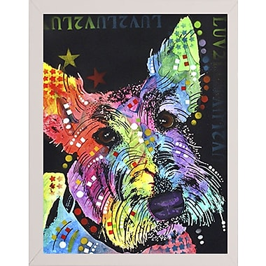 East Urban Home 'Scottish Terrier' Graphic Art Print; White Medium Framed