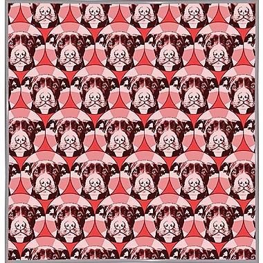 East Urban Home 'Love a Bull Pattern 1' Graphic Art Print; White Metal Framed