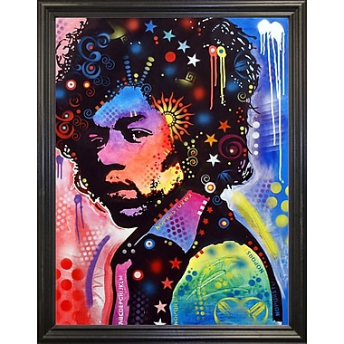 East Urban Home 'Jimi Hendrix IV' Graphic Art Print; Black Grande Framed