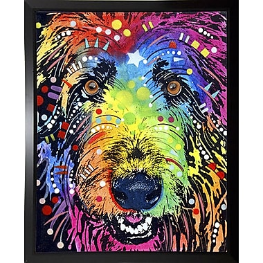 East Urban Home 'Irish Wolfhound' Graphic Art Print; Budget Saver Framed