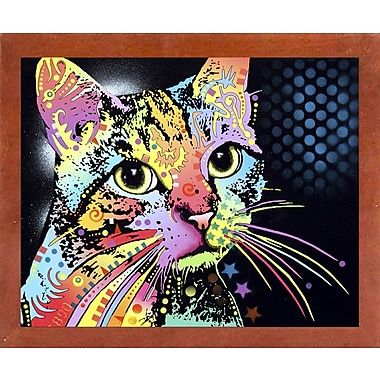 East Urban Home 'Catillac New' Graphic Art Print; Canadian Walnut Medium Framed