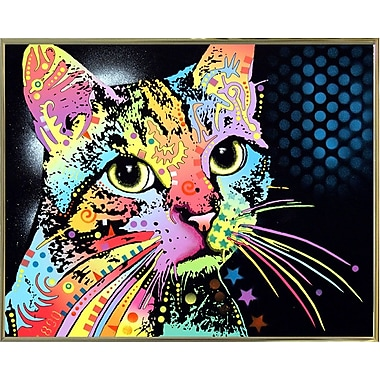 East Urban Home 'Catillac New' Graphic Art Print; Gold Metal Framed