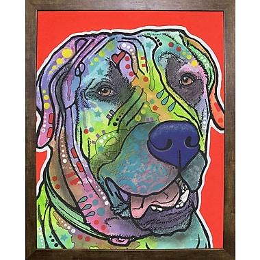 East Urban Home 'Zeus' Graphic Art Print; Cafe Mocha Framed