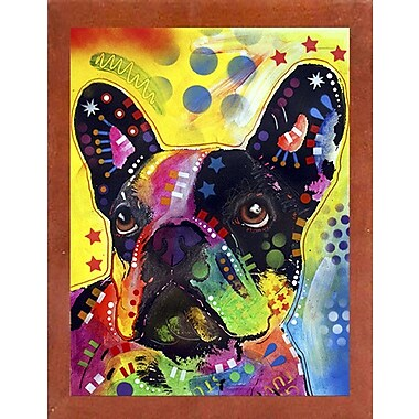 East Urban Home 'French Bulldog 2' Graphic Art Print; Canadian Walnut Medium Framed