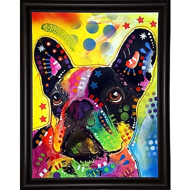 East Urban Home 'French Bulldog 2' Graphic Art Print; Bistro Espresso Framed