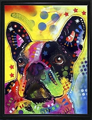 East Urban Home 'French Bulldog 2' Graphic Art Print; Flat Black Metal Framed