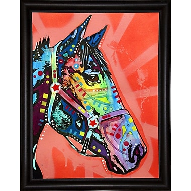 East Urban Home 'WC Horse 3' Graphic Art Print; Bistro Espresso Framed