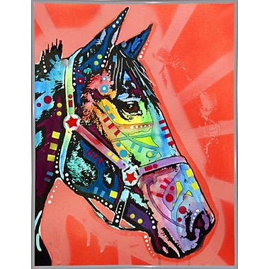 East Urban Home 'WC Horse 3' Graphic Art Print; White Metal Framed