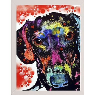 East Urban Home 'Dox' Graphic Art Print; White Medium Framed