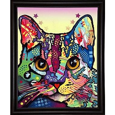 East Urban Home 'Maya Cat' Graphic Art Print; Bistro Espresso Framed