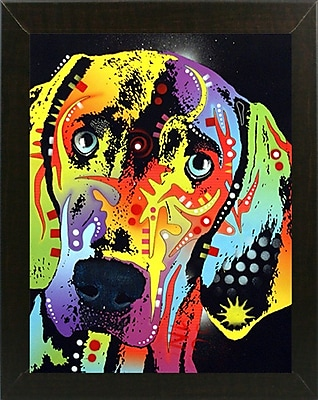 East Urban Home 'Weimaraner' Rectangle Graphic Art Print; Brazilian Walnut Medium Framed