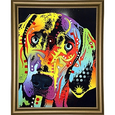 East Urban Home 'Weimaraner' Rectangle Graphic Art Print; Bistro Gold Framed