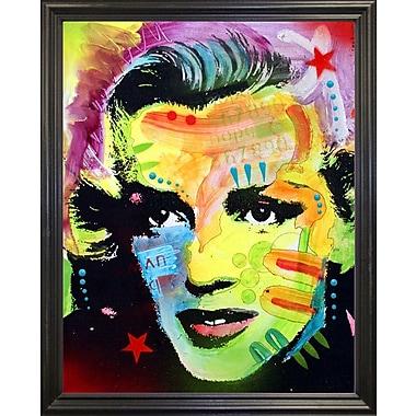 East Urban Home 'Marilyn Monroe I' Graphic Art Print; Black Grande Framed