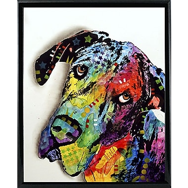East Urban Home 'Tilted Dane' Graphic Art Print; Black Metal Framed