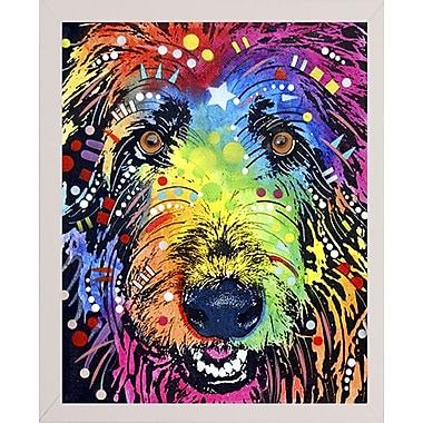 East Urban Home 'Irish Wolfhound' Graphic Art Print; White Medium Framed