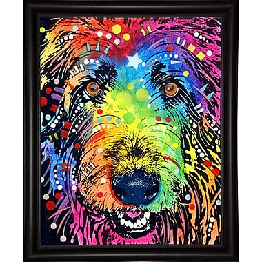 East Urban Home 'Irish Wolfhound' Graphic Art Print; Bistro Espresso Framed