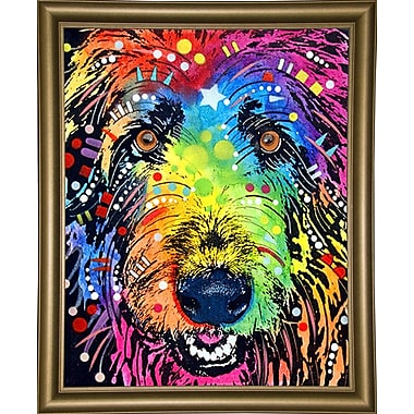 East Urban Home 'Irish Wolfhound' Graphic Art Print; Bistro Gold Framed