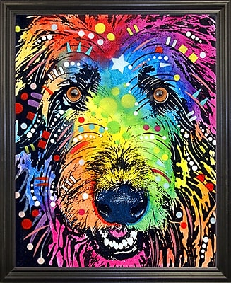 East Urban Home 'Irish Wolfhound' Graphic Art Print; Black Grande Framed